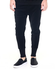 Pants - Black Velour Joggers