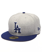 Men - Los Angeles Dodgers MLB Stock Heather Gray Team 59Fifty Fitted Cap