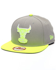 Men - Chicago Bulls NBA Hardwood Classics Gray Upright Yellow 9Fifty Snapback Cap