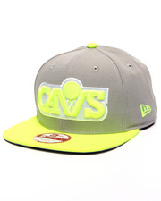 Men - Cleveland Cavaliers NBA Hardwood Classics Gray Upright Yellow 9Fifty Snapback Cap
