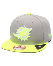 Men - Miami Dolphins NFL Stock Gray Upright Yellow 9Fifty Snapback Cap