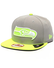 Men - Seattle Seahawks NFL Stock Gray Upright Yellow 9Fifty Snapback Cap