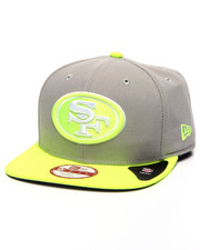 Men - San Francisco 49ers NFL Stock Gray Upright Yellow 9Fifty Snapback Cap