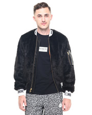 Jackets & Coats - Rich Band Faux Fur Jacket