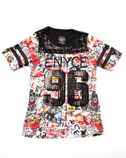 Girls - GRAFFITI JERSEY TEE (7-16)