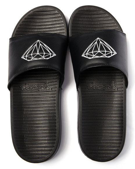 Diamond Supply Co - Men Black Fairfax Slide Sandals