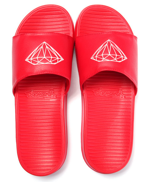 Diamond Supply Co - Men Red Fairfax Slide Sandals