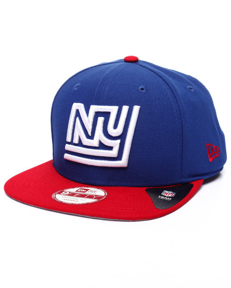 New Era - Men Blue,Red New York Giants Historical Nfl Stock Basic 9Fifty Snapback Cap