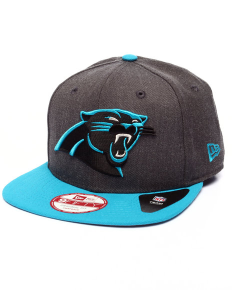 New Era - Men Grey Carolina Panthers Nfl Stock Heather Graphite Team 9Fifty Snapback Cap