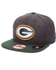 New Era - Green Bay Packers NFL Stock Heather Graphite Team 9Fifty Snapback Cap