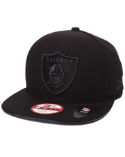 New Era - Oakland Raiders NFL Stock Tonal Black Graphite 9Fifty Snapback Cap