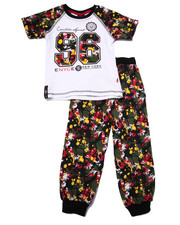 Sizes 4-7x - Kids - 2 PC SPLATTER TEE & JOGGERS SET (4-7)