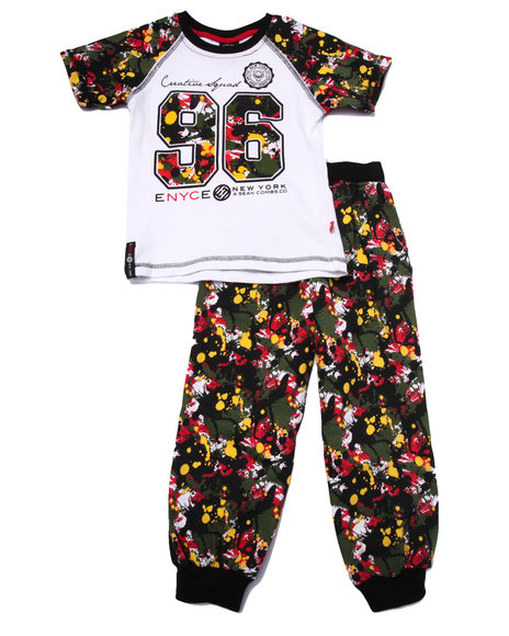 Enyce - Boys Multi 2 Pc Splatter Tee & Joggers Set (4-7)