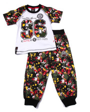 Enyce - 2 PC SPLATTER TEE & JOGGERS SET (2T-4T)