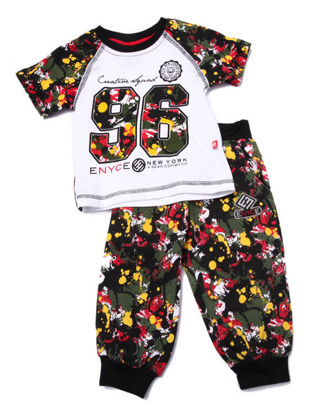 Enyce - Boys Multi 2 Pc Splatter Tee & Joggers Set (Infant) - $16.99