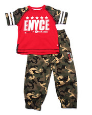Sets - 2 PC CAMO TEE & JOGGER SET (2T-4T)
