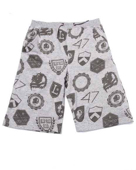 Lrg - Boys Grey Random Shields Sweat Shorts (8-20) - $13.99