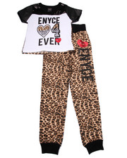Sets - 2 PC EYNCE 4EVER TEE & ANIMAL PRINT JOGGERS SET (7-16)
