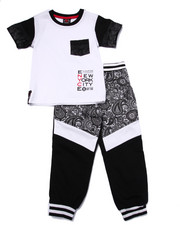 Black Friday Shop - Boys - 2 PC BANDANA TEE & JOGGER SET (4-7)