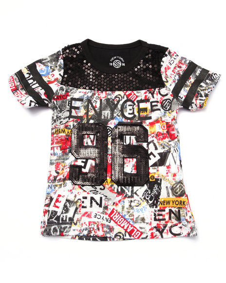 Enyce - Girls Multi Graffiti Jersey Tee (4-6X) - $11.99