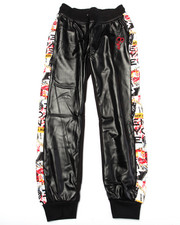 Bottoms - JOGGERS W/ GRAFFITI SIDE PANEL (7-16)