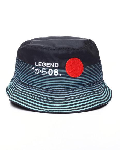 Pink Dolphin - Men Navy Rising Sun Bucket Hat