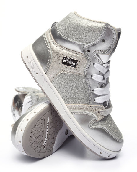Pastry - Girls Silver Glam Pie Glitter Girls Sneaker (10-4)