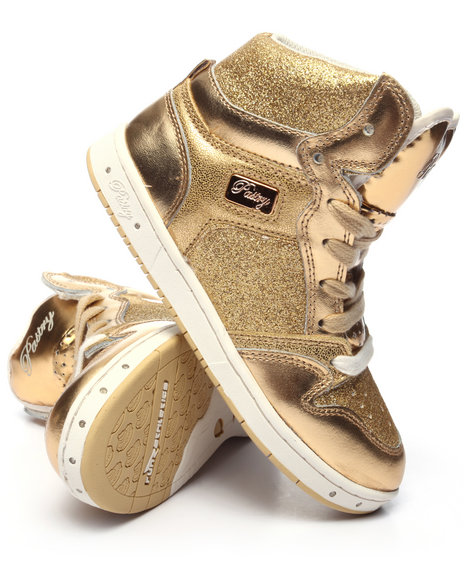 Pastry - Girls Gold Glam Pie Glitter Girls Sneaker (10-4)