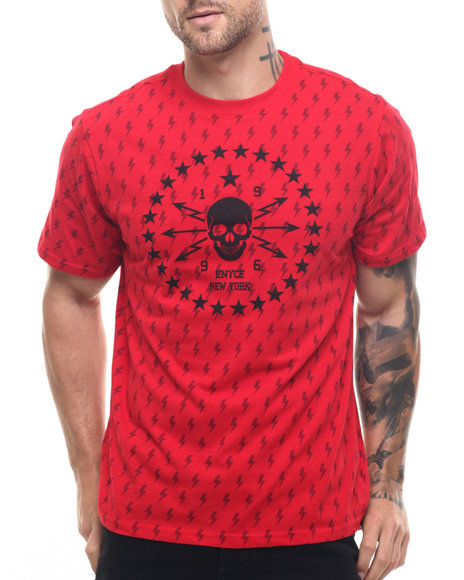 Enyce Men Skateboard P All Over Print TShirt Red Large