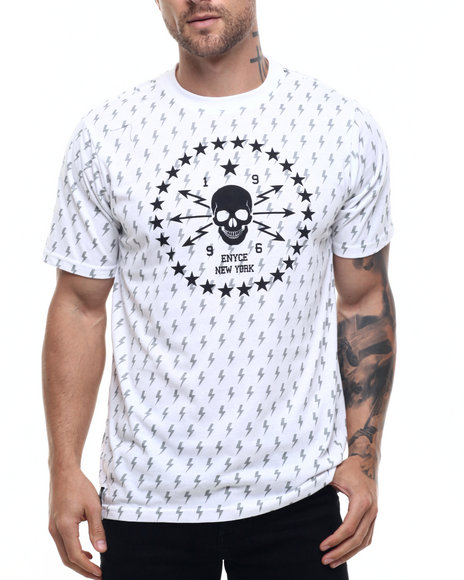 Enyce Men Skateboard P All Over Print TShirt White XLarge