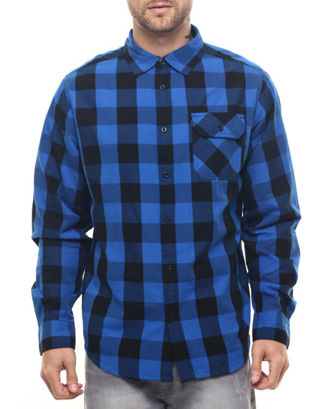 Winchester - Men Blue Bradley Workman Plaid L/S Button Down Shirt