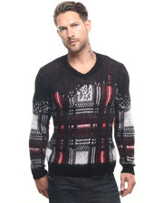 Diesel - K-Clapton Mohair Destroyed Check Sweater