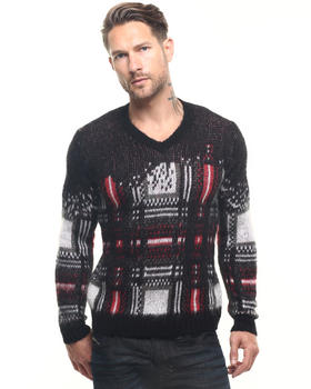 Sweaters - K-Clapton Mohair Check Sweater