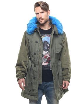 Diesel - W-Hermes Nylon Parka w/ Fur Hood