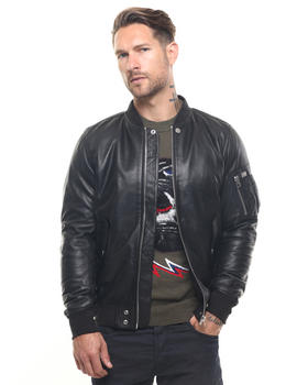 Diesel - L-Shadow Glove Leather Flight Jacket