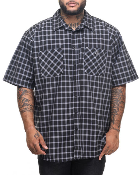 Rocawear - Men Black Oswald S/S Button-Down (B&T)