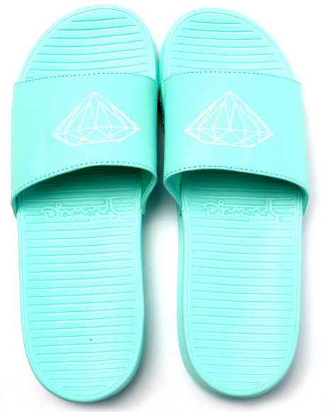 Diamond Supply Co - Men Teal Fairfax Slide Sandals