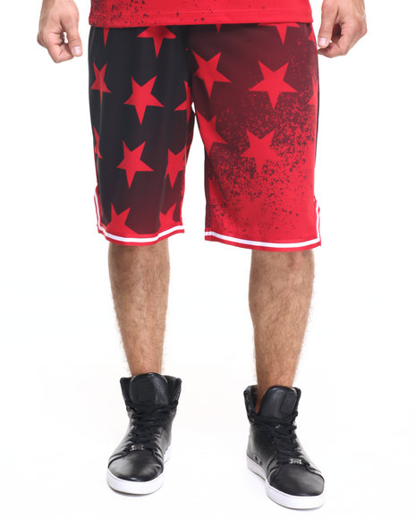 Rocawear - Men Red Washington Shooter Shorts