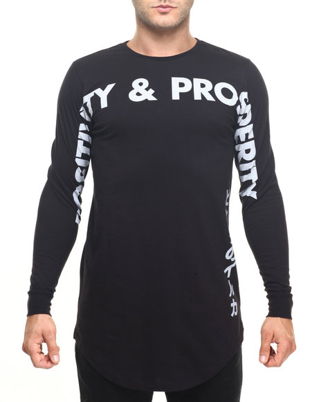 Pink Dolphin - Men Black Positivity & Prosperity L/S Tee - $46.00