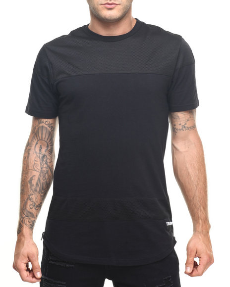Trukfit - Men Black Truk Mesh Scallop T-Shirt