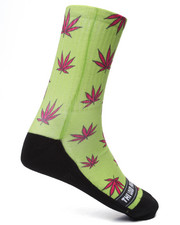 Men - Yellow Weed Socks