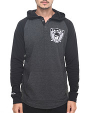 Henleys - Oakland Raiders NFL Home Stretch L/S Hooded Tee