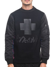 Men - BOMBER FLANNEL CREWNECK SWEATSHIRT