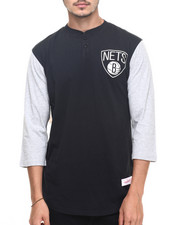 Henleys - Brooklyn Nets NBA In The Clutch Henley Tee