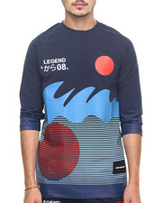 Men - RISING SUN 3/4 - SLEEVE RAGLAN TEE