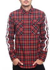 Shirts - SPEED PROMO FLANNEL L/S BUTTON - DOWN