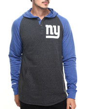 Mitchell & Ness - New York Giants NFL Home Stretch L/S Hooded Tee