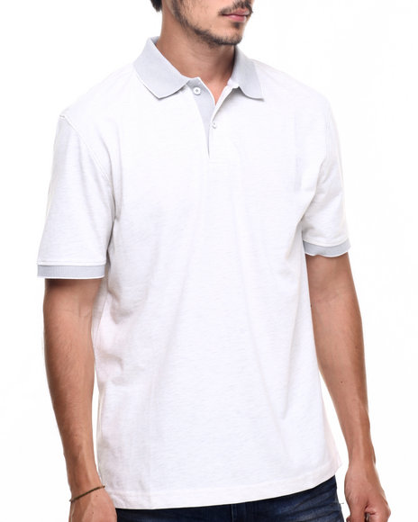 Rocawear - Men Light Grey,White Macro Polo