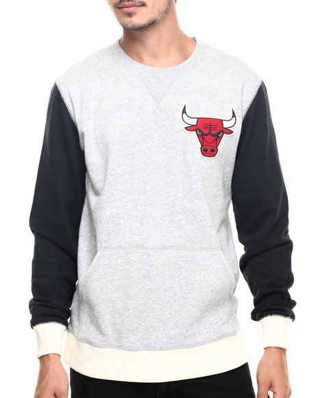 Mitchell & Ness - Men Grey Chicago Bulls Nba Team To Beat Crew Sweatshirt