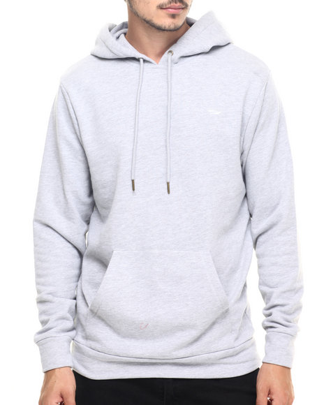 Benny Gold - Men Grey Logo Custom French Terry Hoodie